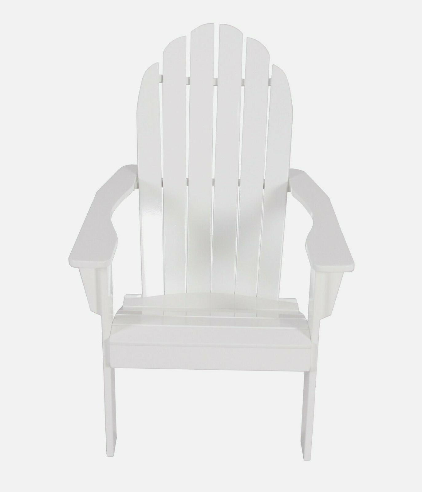 Mainstays Wooden Outdoor Chair, White Hardwood