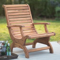 Natural Finish Adirondack Patio Chair Outdoor Home Seating F