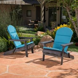 Nelie Outdoor Acacia Wood Folding Adirondack Chairs with Cus