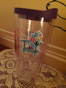 New 24 oz .BLUE ADIRONDACK BEACH CHAIR WITH FISHES Tervis Tu