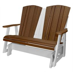New Harbor Collection Double Glider in Antique Mahogany and