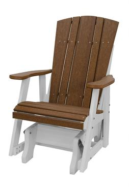 New Harbor Collection Single Glider in Antique Mahogany and
