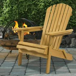 Best Choice Products Outdoor Adirondack Wood Chair Foldable