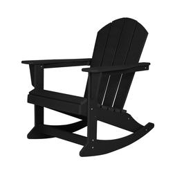 WestinTrends Outdoor Patio Furniture Rocking Poly Adirondack