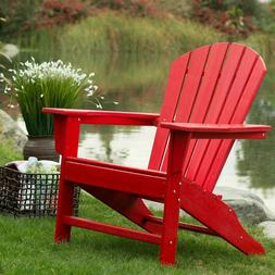 Outdoor Patio Seating Garden Adirondack Chair in Red Heavy D