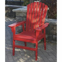Painted Acacia Wood Upright Adirondack Chair - Red