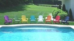 Folding Adirondack Chair -Cup Holder-Poly Lumber Wood-Recycl