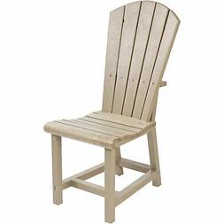 Recycled Plastic Dining Adirondack Style Side Chair, Beige,