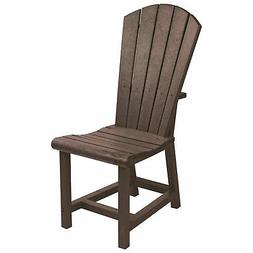Recycled Plastic Dining Adirondack Style Side Chair, Chocola