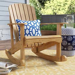 Rocking Adirondack Solid Wood Chartier Chair