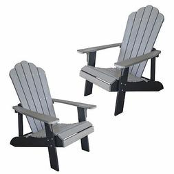 simulated wood outdoor two tone adirondack chair