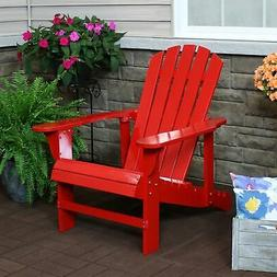 Sunnydaze Adirondack Chair with Adjustable Backrest Wood Out