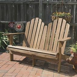 wood adirondack bench chair patio porch outdoor