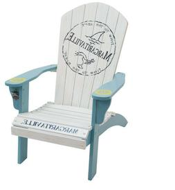 Margaritaville Wood Adirondack Chair, Fins to the Left Rio S