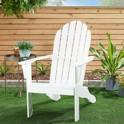Mainstays Wooden Outdoor Adirondack Chair, White Finish, Sol